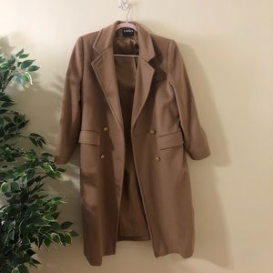 Vintage wool camel-colored coat